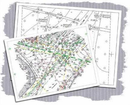 Карта план зоны местности